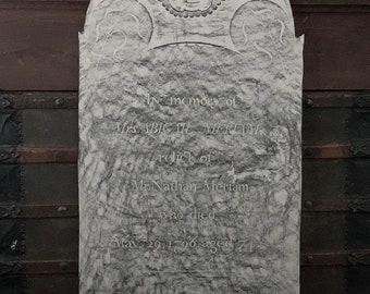 Vintage Grave Rubbing