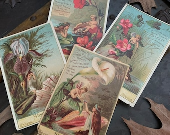 Victorian Steele and Price Baking Powder Trade Cards, Set of 4