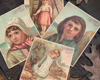 Victorian Alden Fruit Vinegar Trade Cards, Set of 4