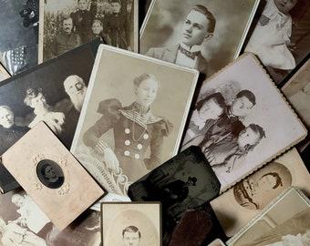 Antique Family Photograph Collection, Plus Album