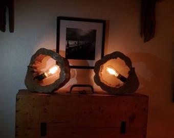 Duo wooden lamp