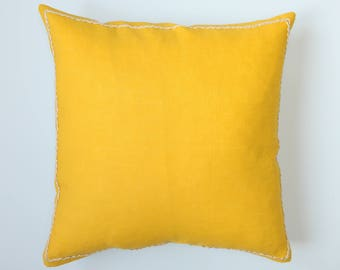 Throw pillow cover yellow