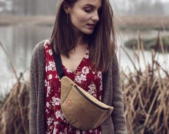 Olive Corduroy Fanny Pack,  Custom Made, Slow Fashion, High Quality