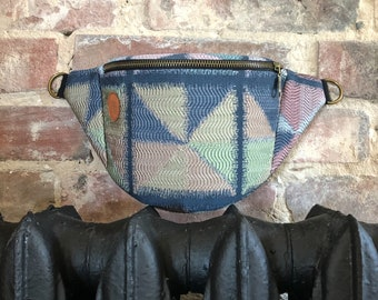 Pastel triangles Fanny Pack,  Custom Made, Slow Fashion, High Quality