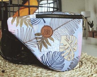 Jungle leaves - Sky Blue,  Custom Made, Slow Fashion, High Quality