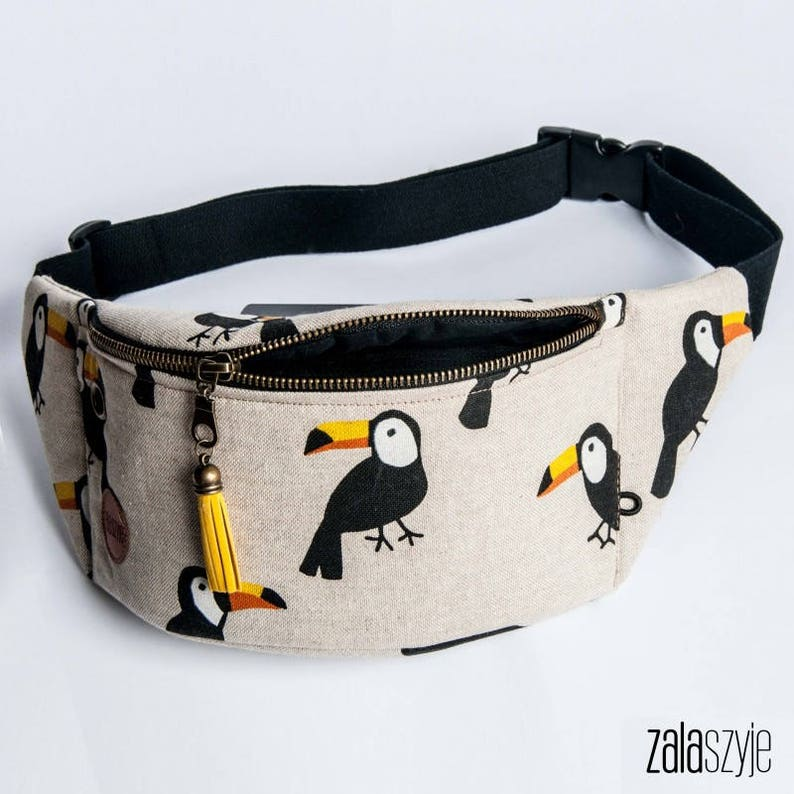 Slow Fashion High Quality Toucans Fanny Pack Custom Made