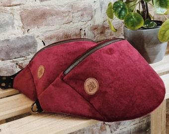Red velvet Fanny Pack,  Custom Made, Slow Fashion, High Quality