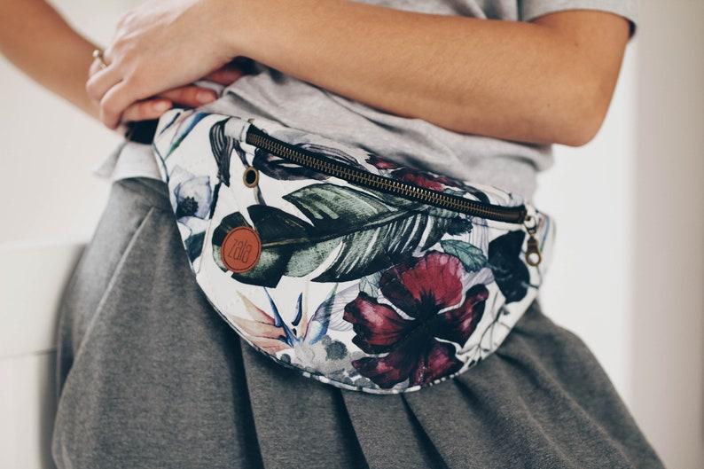 High Quality Paradise Flowers Fanny Pack Slow Fashion Custom Made