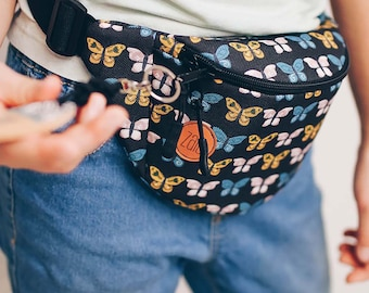 Butterflies Fanny Pack,  Custom Made, Slow Fashion, High Quality