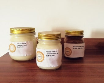 Natural Rose and Lavender Face & Body Butter Small