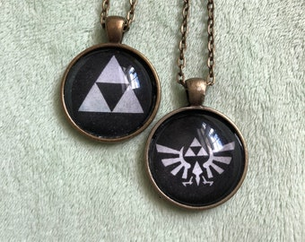 Triforce or Winged Triforce Pendant Necklace