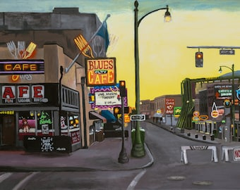 Morning on Beale Fine Art Print