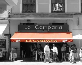 Malaga Cafes, Street Photography, Cafe Print, Street Photography, House Warming Print