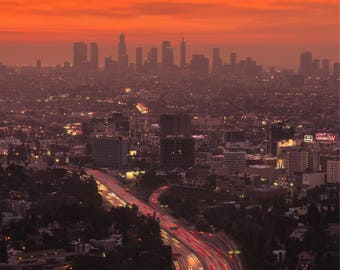 Sunrise over Los Angeles