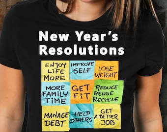 New Years resolution gifts,new years resolution tshirt,funny new years resolution tshirts,New Beginnings,new goals,weight loss,goal planner