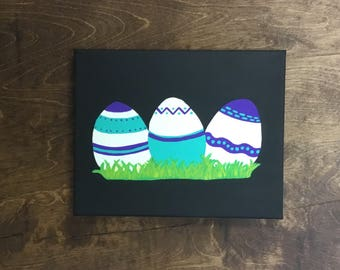 Easter Eggs on Canvas