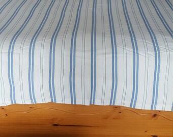 Queen Duvet Cover Vintage Blue Yellow Stripes