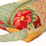 Teal, Red Patchwork Toiletry Bag, Travel Bag