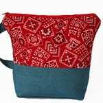 Bandana Denim Zippered Project Bag