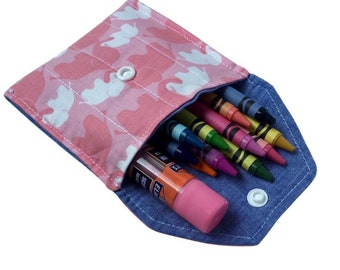Mini Pouch, Crayon Pouch, Multiple Colors/Patterns, Back to School Pouch