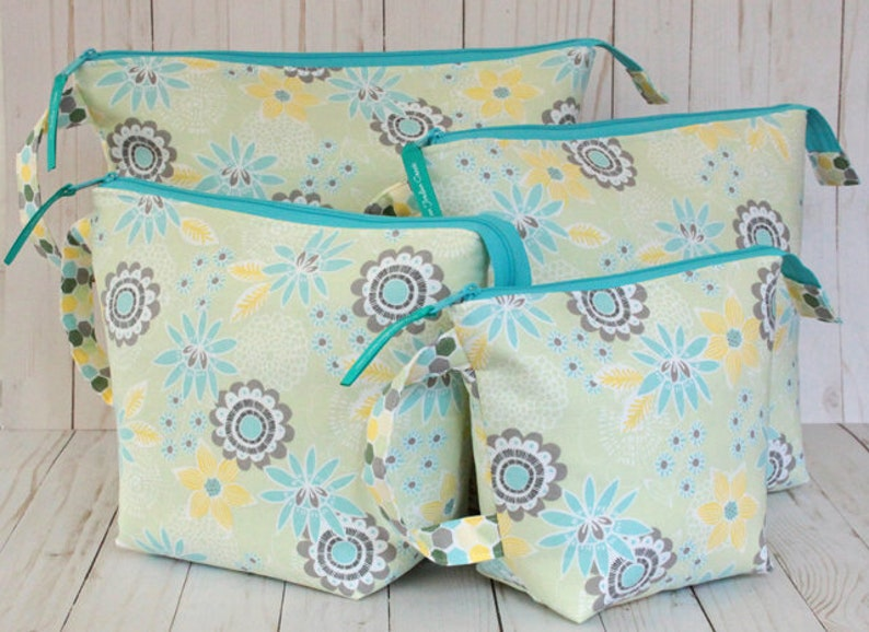 Spring Floral  Hexagon Full Set of Project Bags sizes Small image 0