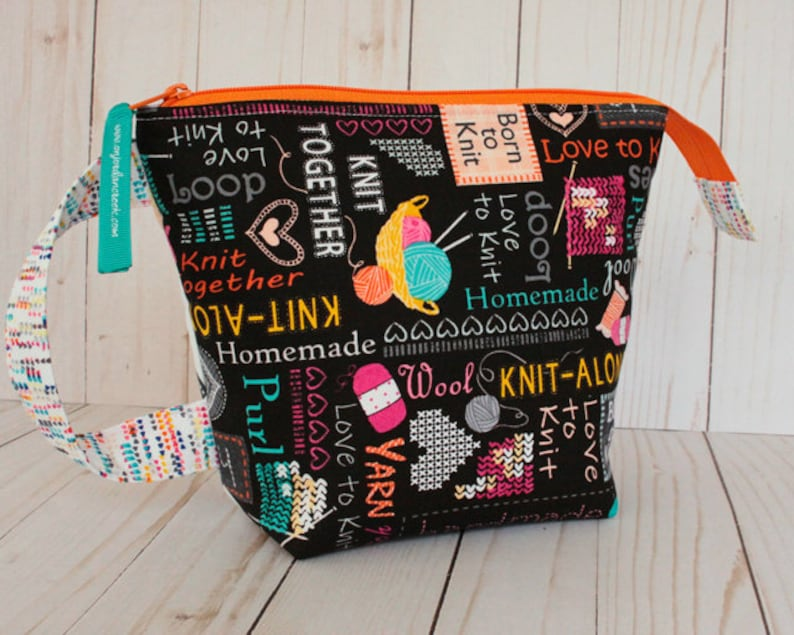 Small Knit Together Project Bag Knitting Bag image 0
