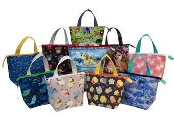 Large Grab n' Go Toy Bags, Animal Collection, variety of patterns available