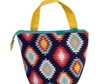 Navy Aztec Grab'n Go Bag, Large