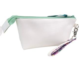 The Essential Wristlet, White + Purple Floral, Medium