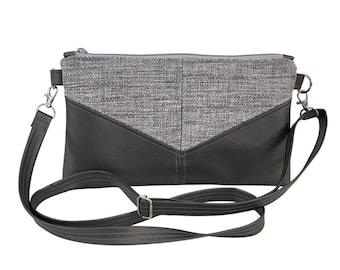 Silver Threads Harlequin Crossbody Purse, interior zipper pocket + card slots, adjustable & removable strap