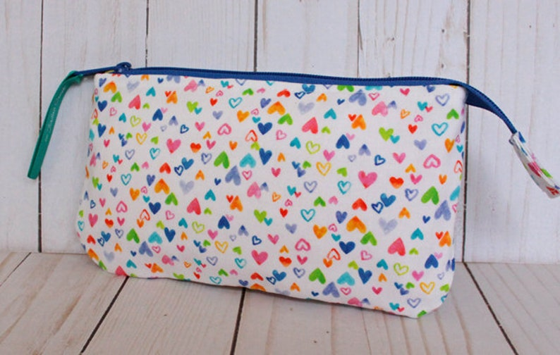 Cutesy Hearts Pouch Notions Pouch image 0