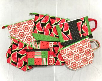 Watermelon Project Bags Collection, Your choice of sizes Medium, Large, X-Large, Classic & Classic Plus Lines