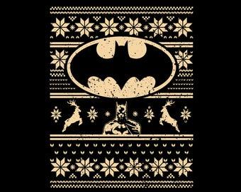 batman christmas design vector eps ai pdf jpeg superheros tshirt hoodies ugly sweater christmas embroidery