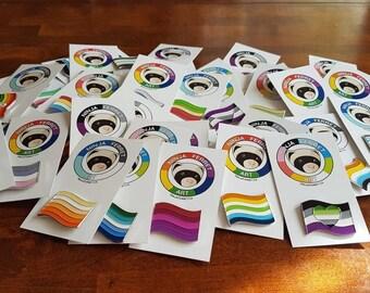 Pride Flag Enamel Pins   Soft Enamel Lapel Pins   LGBTQIA2S+