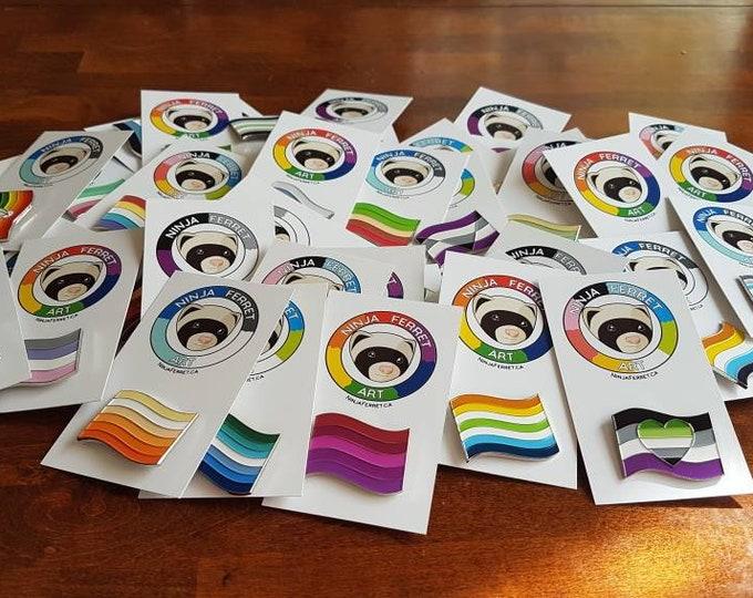 Featured listing image: Pride Flag Enamel Pins | Soft Enamel Lapel Pins | LGBTQIA2S+