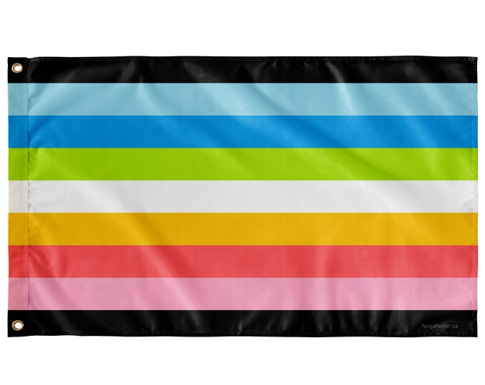 """Featured listing image: Queer Pride Wall Flag with Stripes 