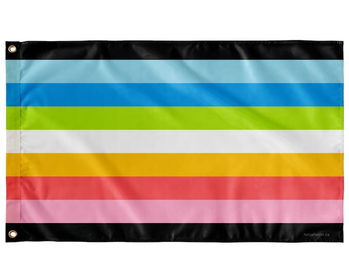 """Featured listing image: Queer Pride Wall Flag with Stripes   Single-Reverse   36x60"""""""