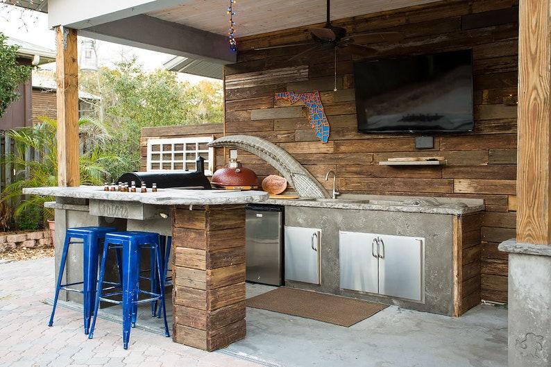 Benutzerdefinierte Beton Outdoor-Küche!!!