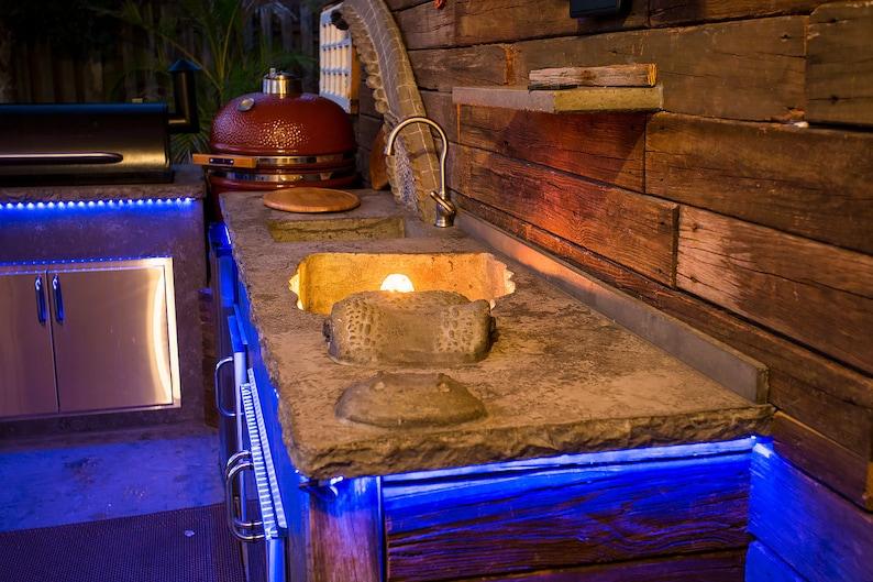 Outdoorküche Mit Spüle Blau : Benutzerdefinierte beton outdoor küche etsy