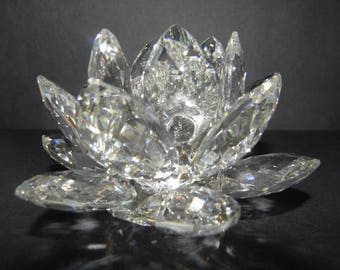 Swarovski Crystal Medium Water Lily Candle Holder