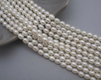 AA 3.5 mm Tiny Golden nugget freshwater pearls,irregular nugget freshwater pearl strand,Rice beads!16.5  strand