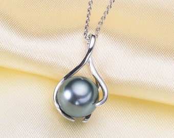 925 Sterling Silver OR Gold Pendant Setting for Half Drilled Cage Pearl Mountings, DIY Jewelry, Pendant Drop Bail, Pearl Findings (NF-608)