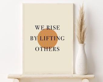 We Rise by Lifting Others Scrunchie without Tie