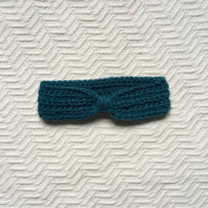 Toddler or Baby Deep Blue Ear Warmer