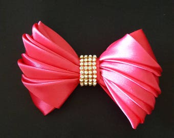 Glamour Hair Bow Electric Pink