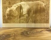 Personalised engraving on wood