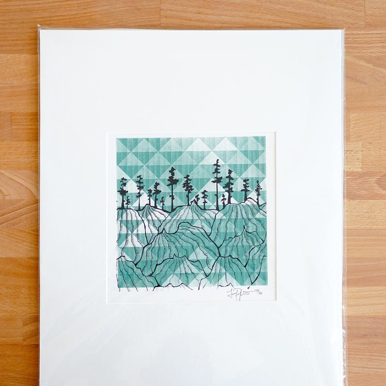 First Run Mountains Screen Print image 0