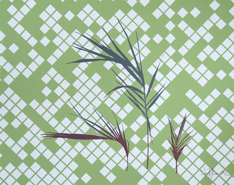 Palm Fronds 1 Screen Print image 0
