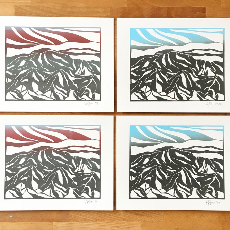 Paper Mountains Screen Print image 0