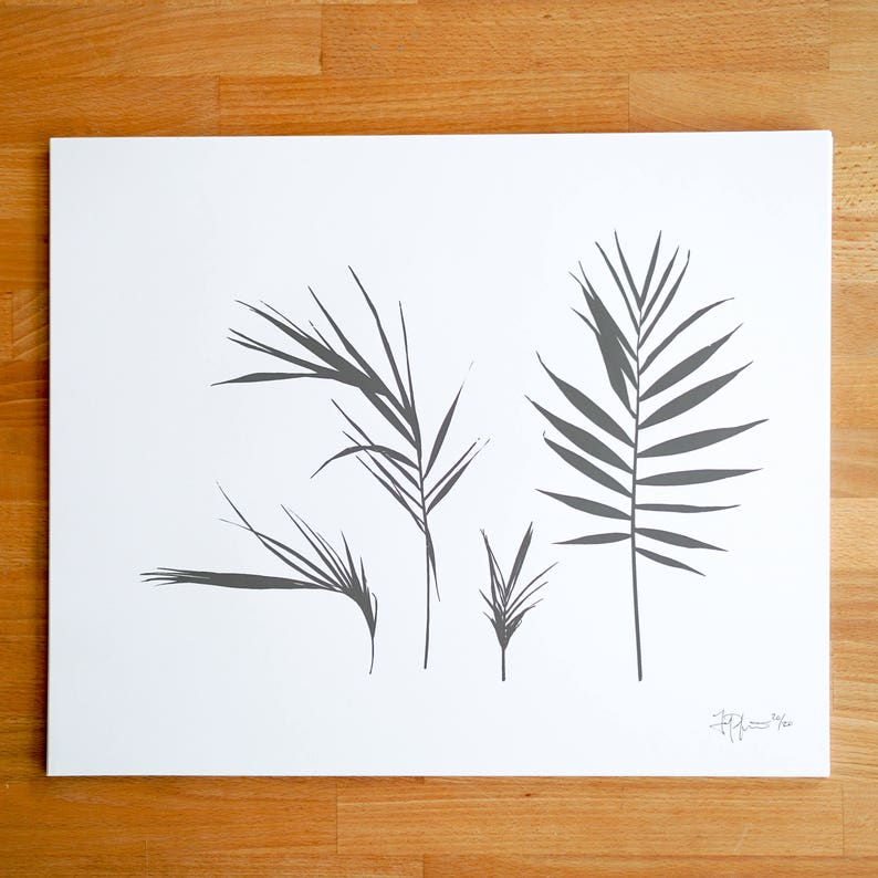 Palm Fronds 2 Screen Print image 0